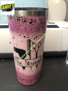 Hairstylist Prayer Tumbler - Glitter Tumbler -Made to Order - Jamies Decals