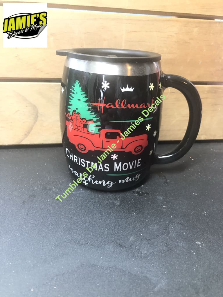 Hallmark Christmas movie watching Tumbler  -Made to Order - Jamies Decals