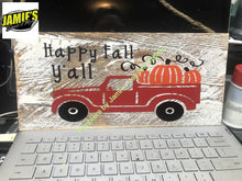 Happy Fall Yall Pumpkin Truck - Jamies Decals