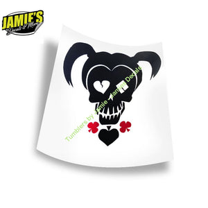 Harley Quinn Decal - Four Sizes - Color Options - Jamies Decals