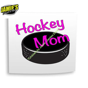 hockey mom Decal - Four Sizes - Color Options - Jamies Decals