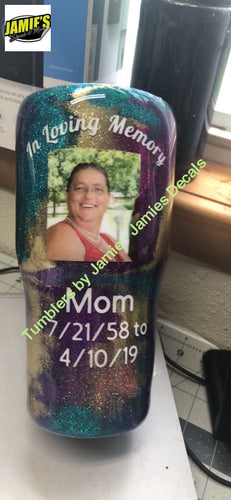 In Memory of Tumblers - Color Options and Personalized for you. - Jamies Decals