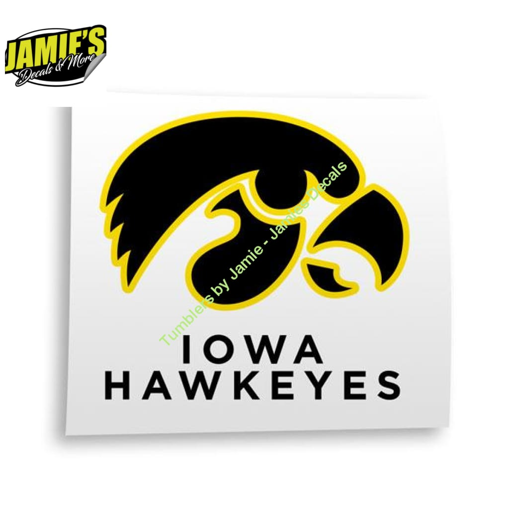 Iowa Hawkeye Decal - Four Sizes - Color Options - JD Version - Jamies Decals