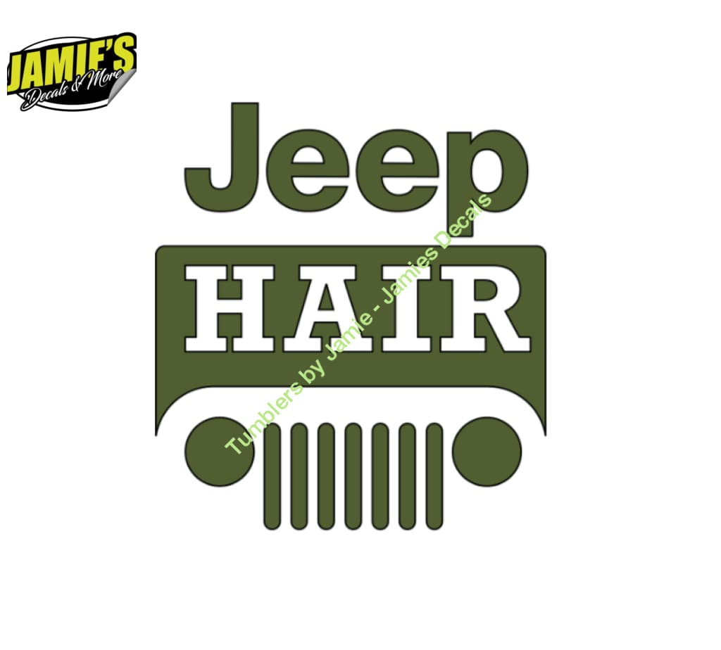 Jeep Hair - Jeep Decal - Color Options - Size Options - Magents - Jamies Decals