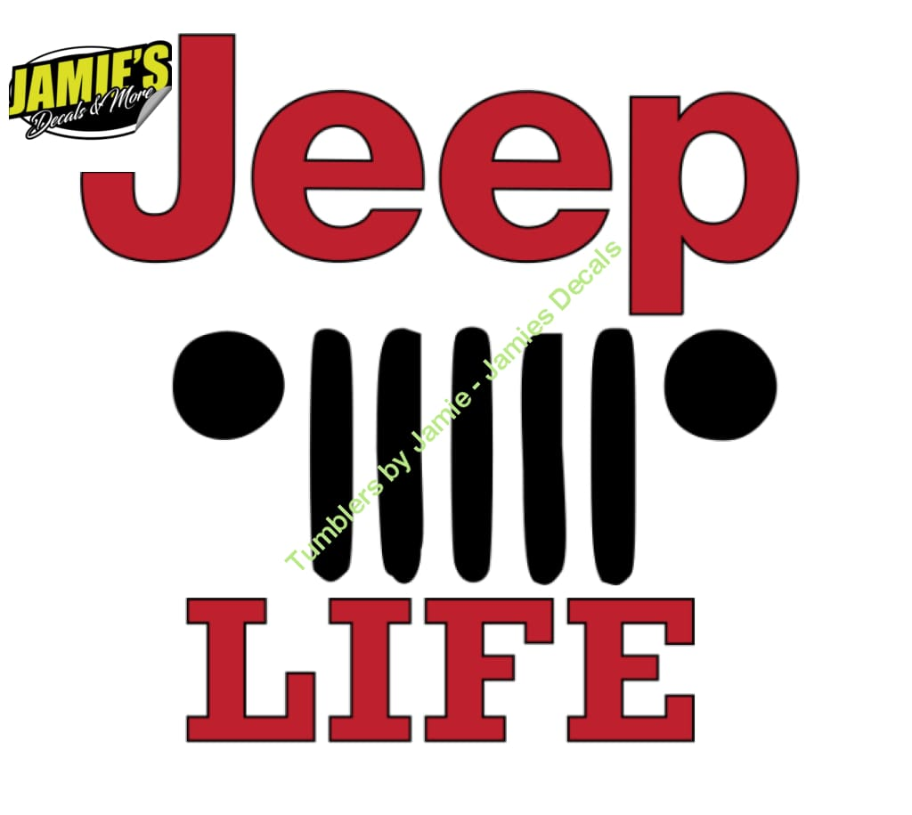 Jeep Life Decal - Jeep Decal - Color Options - Size Options - Magents - Jamies Decals