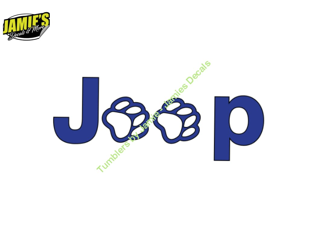 Jeep Paws - Jeep Decal - Color Options - Size Options - Magents - Jamies Decals