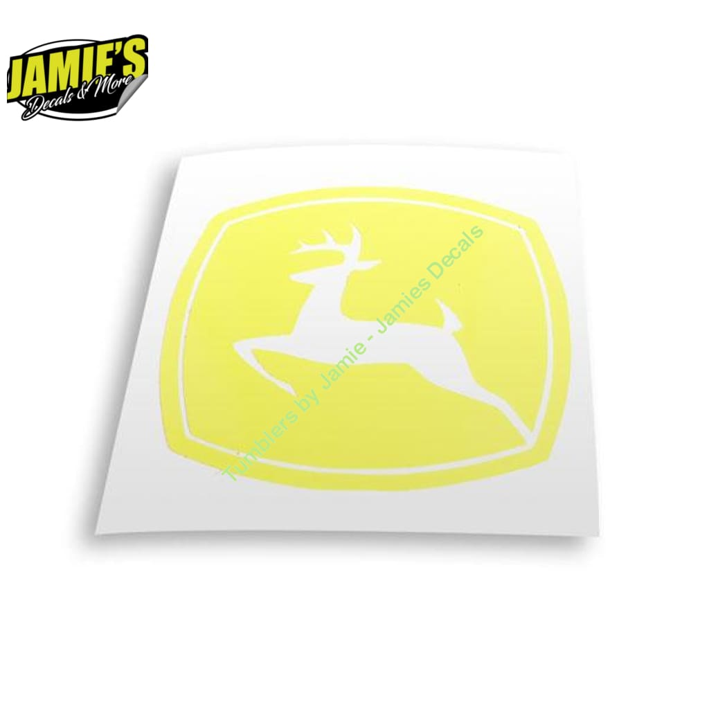 John Deer Decal - Four Sizes - Color Options - Jamies Decals