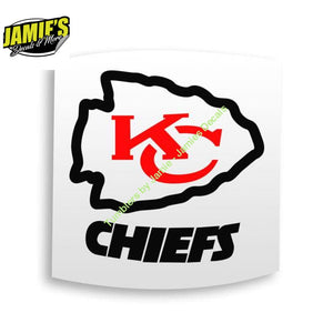 Kansas City Chiefs Decal 1 - Decal - Four Sizes - Color Options - Jamies Decals