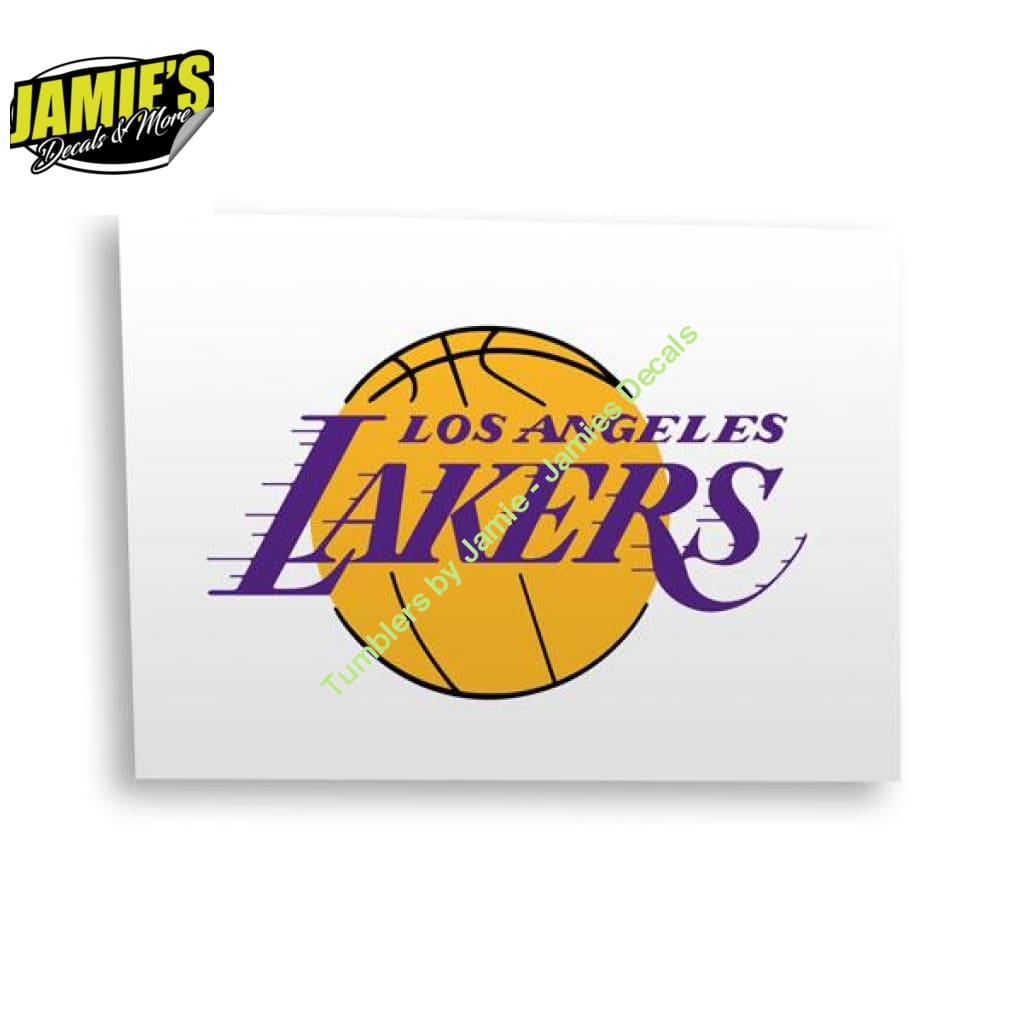 LA Lakers Decal - Four Sizes - Jamies Decals