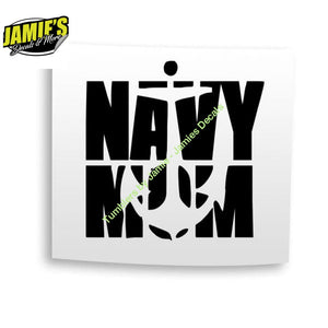 Navy Mom - Decal - Four Sizes - Color Options - Jamies Decals