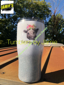 Not My Pasture Not my Bullshit Heifer Cow Tumbler Glitter Tumbler - Bling Tumbler -Made to Order - Personalized Decal Tumbler - Jamies Decals