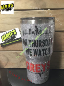 On Thursday we watch Grey Tumbler -Made to Order - Personalized Decal Tumbler - STL - Jamies Decals