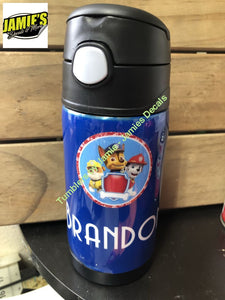 Paw Patrol inspired - Sippy Cup - Made to order - Personalized Just for you. - Jamies Decals