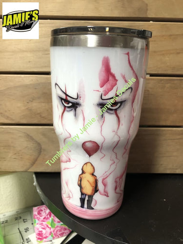 """Pennywise"" inspired Tumbler - size options Tumbler - Made to Order - - Jamies Decals"