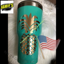Pineapple Tumbler- Made to Order - Personalized Decal Tumbler - Jamies Decals