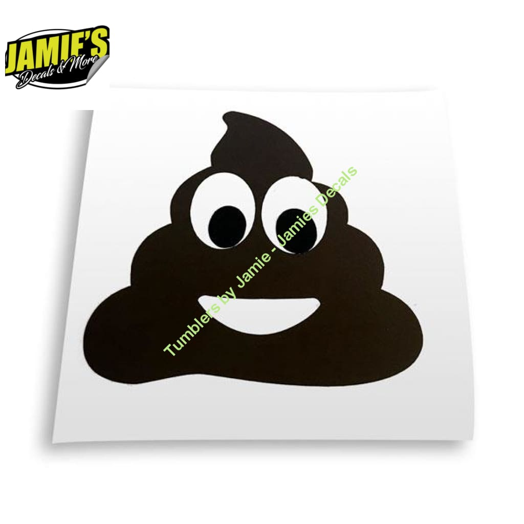 Poop Decal - Decal - Four Sizes - Jamies Decals