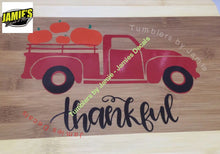 Pumpkin Red Truck Thankful Cutting Board - Jamies Decals