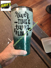 River Time & Tan Lines Glitter Tumbler - Glitter Tumbler -Made to Order - Jamies Decals