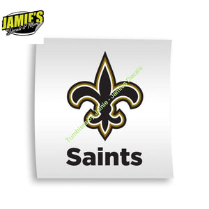 Saints Decal - Decal - Four Sizes - Color Options - Jamies Decals