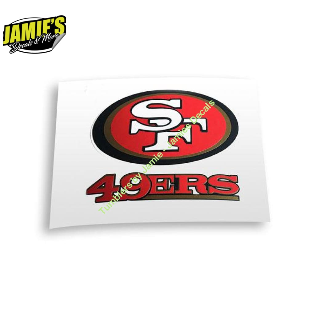 San Francisco 49ers Decal JD version - Decal - Decal - Four Sizes - Jamies Decals