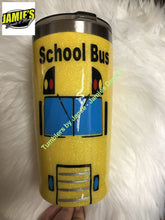 School Bus Glitter Tumbler - Bling Tumbler -Made to Order - Personalized Decal Tumbler - Jamies Decals