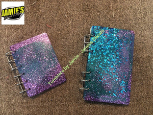 Sparkle Note Books - Two sizes - Made to order - Jamies Decals
