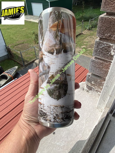 Split Camo Buck Tumbler - Camo Tumbler - Made to Order Camo Collection