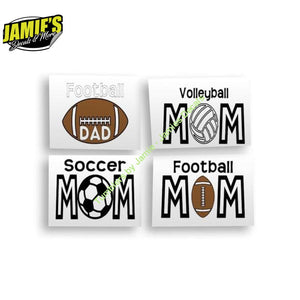 Sports MOM - Decal - Decals - Four Sizes - Color Options - Jamies Decals