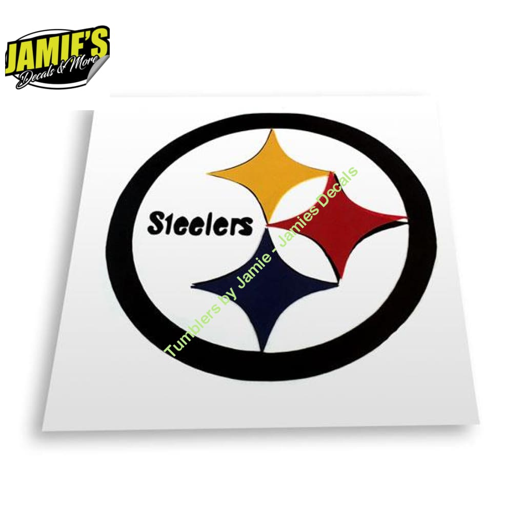Steelers Decal - JD Version - Decals - Four Sizes - Color Options - Jamies Decals