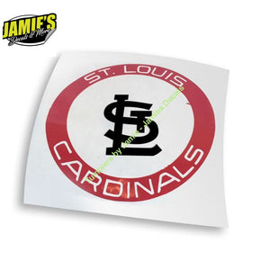 STL - St.Louis Cardinals Circle Decal - Decals - Four Sizes - Jamies Decals