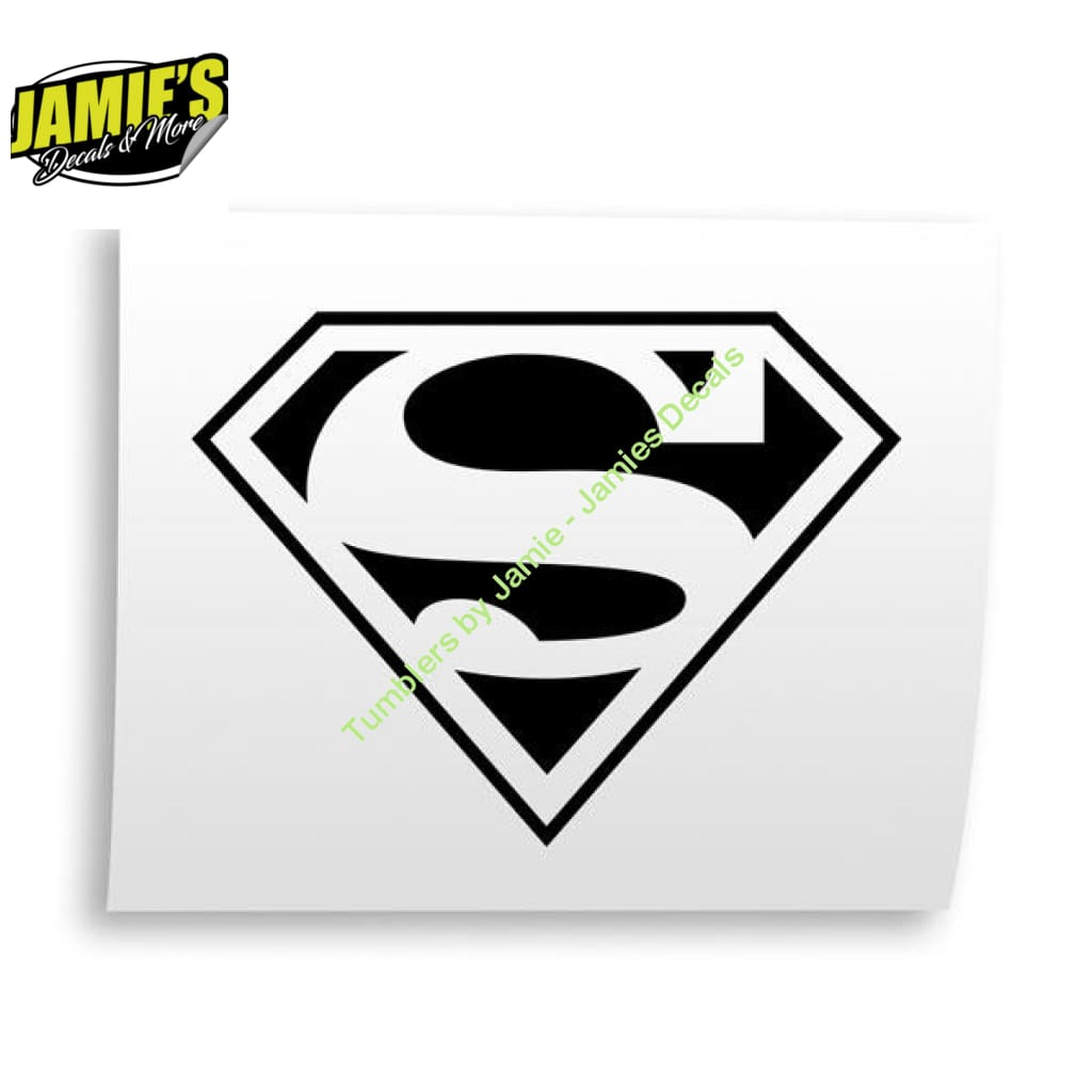 Superman Decal - Decals - Four Sizes - Color Options - Jamies Decals