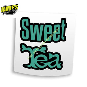 Sweet Tea Decal - Decals - Four Sizes - Color Options - Jamies Decals