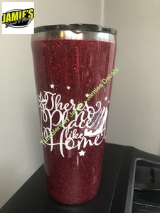 There is no place like home - Wizard of Oz inspired Tumbler - Glitter Tumbler  - Glitter Tumbler -Made to Order - Jamies Decals