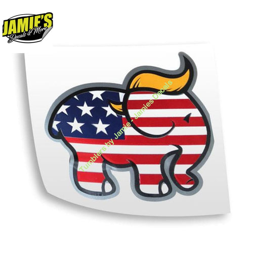 Trump Elephant Decal - Decals - Four Sizes - Jamies Decals