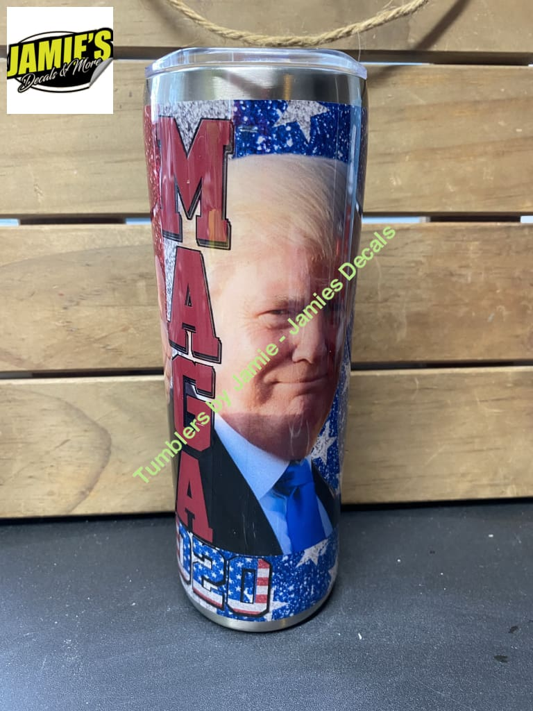 Trump Maga 2020 20 Skinny Tumbler - Ready to Ship or Pick Up Ready to Ship