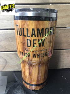 Tullamore Dew Irish Whiskey inspired Woodgrain Tumbler - Wood Grain Tumblers - Jamies Decals