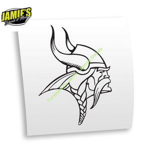 Vikings Decal - JD Version - Decals - Four Sizes - Color Options - Jamies Decals