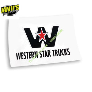 Western Star Decal - Decals - Four Sizes - Jamies Decals