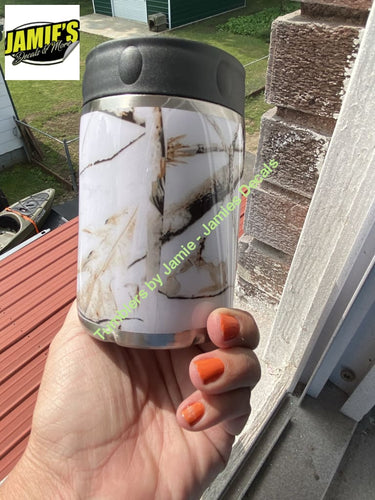 White Camo Tumbler - Camo Tumbler - Made to Order Camo Collection
