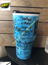 Willie Nelson inspired Tumbler - color options - size options - Jamies Decals