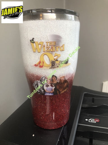 Wizard of Oz inspired Tumbler - Glitter Tumbler  - Glitter Tumbler -Made to Order - Jamies Decals