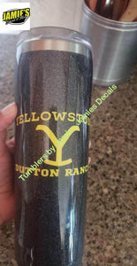 Yellowstone Dutton Farm inspired Tumbler - Glitter Tumbler -Made to Order - Jamies Decals