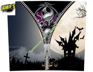 Zipper Nightmare before Christmas 20 skinny tumbler - Options - Made to Order - 20 Skinny tumblers