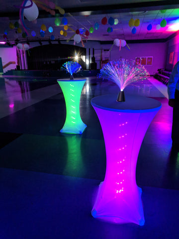 LED Light Up Cocktail Tables for Rent Bradenton Lakewood Ranch