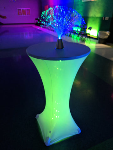 Glowing LED light up tables for Rent lakewood ranch florida