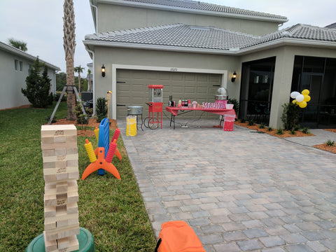 Jumbo Outdoor Games and Cotton Candy at Lakewood Ranch Birthday Party