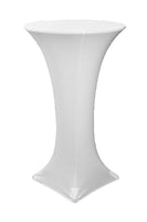 white spandex stretch cocktail bar height table covers for rent bradenton lakewood ranch