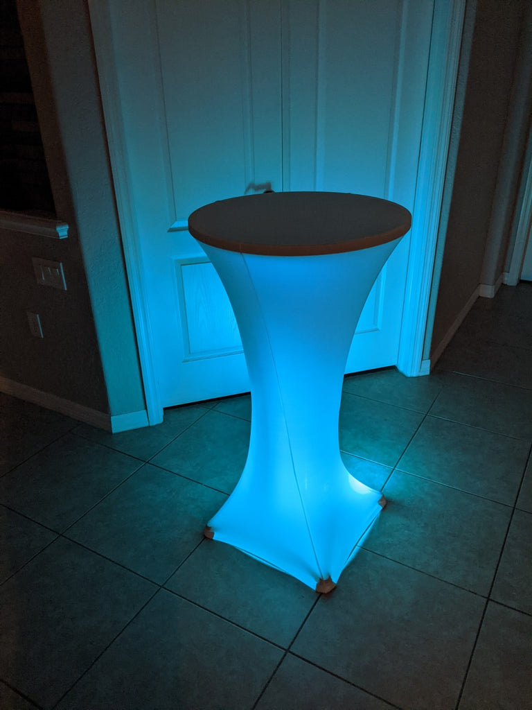 Light Up LED High Top Table PACKAGE