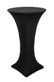 Round Cocktail Bar Height Table Cover - Black Stretch Spandex