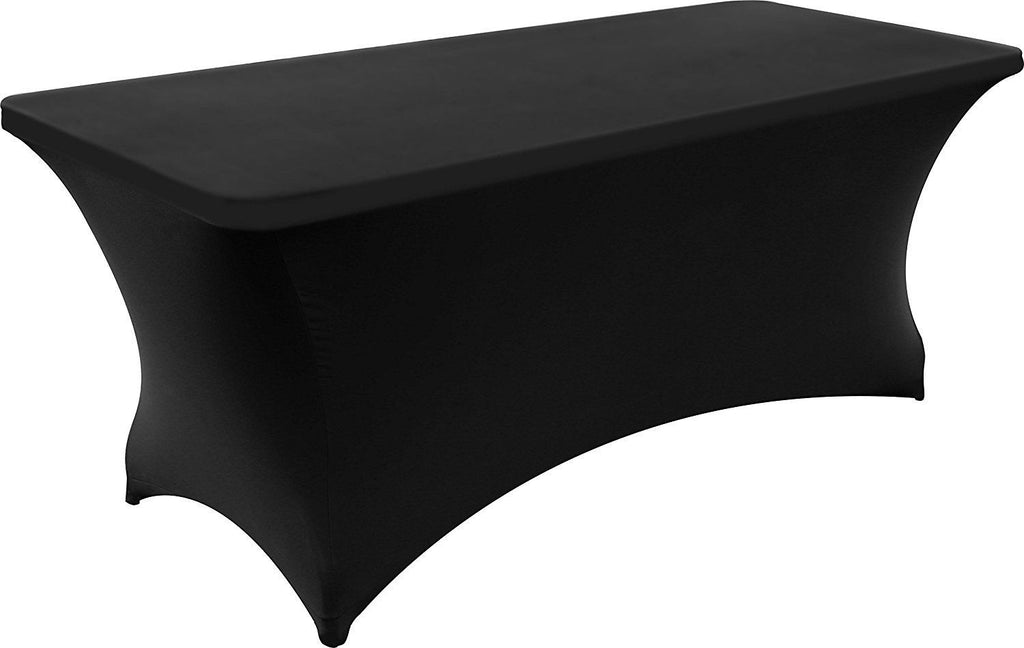 Spandex Stretch Black Table cloth cover 6' table lakewood ranch party rentals